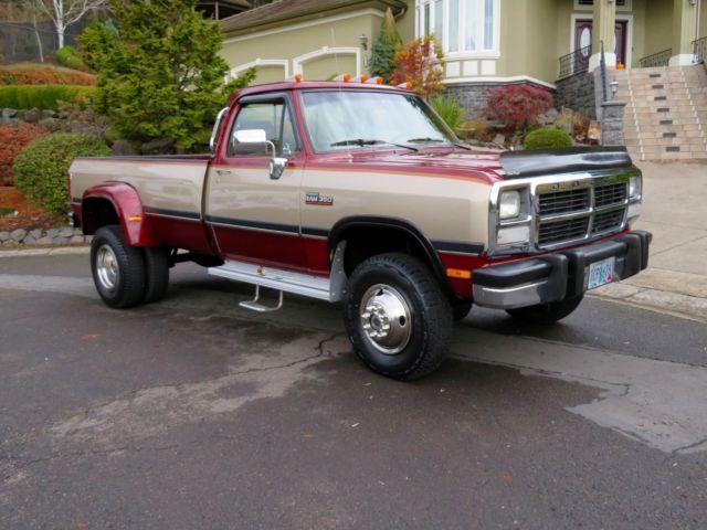 1993 Dodge Ram 350 4x4 Cummings Turbo Diesel Low Miles 98k