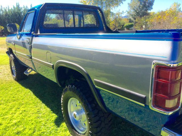 1993 dodge ram w250 cummins turbo diesel 12 valve 4x4 low miles great truck for sale in merlin. Black Bedroom Furniture Sets. Home Design Ideas