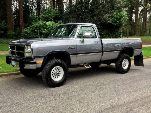 5.9 L Cummins For Sale >> 1993 Dodge Ram W250 Reg Cab LE Auto 5.9'L 12-Valve Cummins Diesel Only 93k Miles for sale ...
