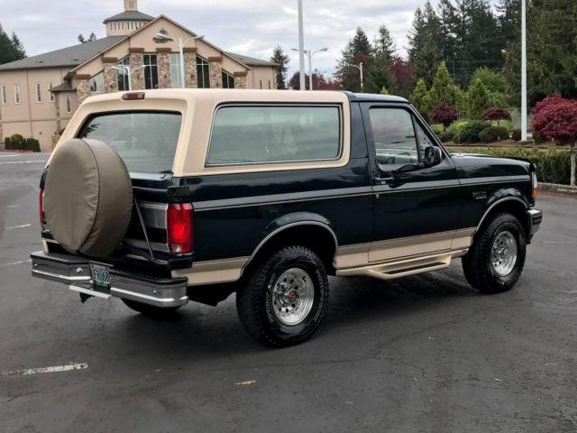 1993 ford bronco eddie bauer 4x4 2dr suv 5 8 39 liter v8 eng. Black Bedroom Furniture Sets. Home Design Ideas