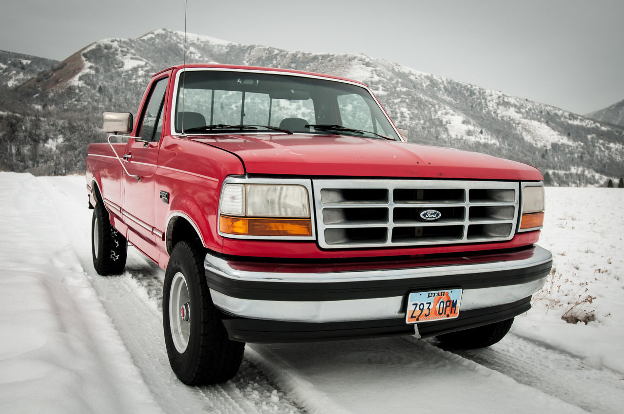 1993 ford f 150 xlt 4wd work truck 302 v8 shop truck. Black Bedroom Furniture Sets. Home Design Ideas