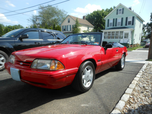 1993 Mustang Lx Convertible 5 0 Rare Red 1 Of 459 For In Milltown New Jersey United States