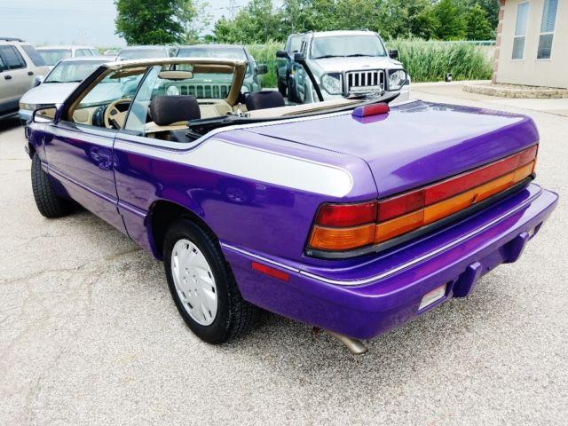 1994 Chrysler Lebaron Convertible Gtc 122k Custom Painted