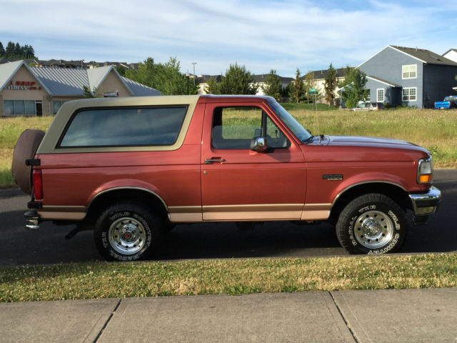 1994 ford bronco eddie bauer 4x4 2dr leather only 87k original miles rust free for sale in. Black Bedroom Furniture Sets. Home Design Ideas