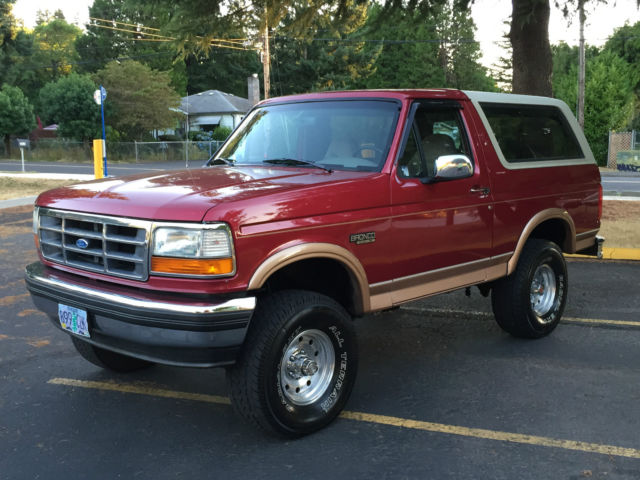 1994 ford bronco eddie bauer 4x4 lifted 2dr 5 8l v8 engine new tires rust free for sale in. Black Bedroom Furniture Sets. Home Design Ideas