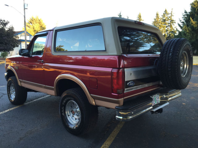 Used Tires Portland >> 1994 Ford Bronco Eddie Bauer 4x4 Lifted 2dr 5.8L V8 Engine New Tires RUST FREE for sale in ...
