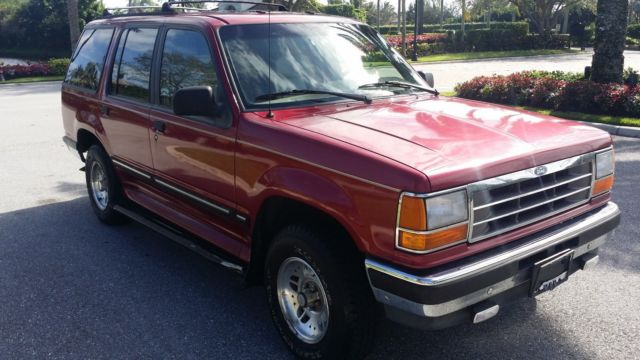 1994 ford explorer suv 4 door red tan leather 6 cylinder 4 0l 4x4 4wd 1995 for sale in boca. Black Bedroom Furniture Sets. Home Design Ideas