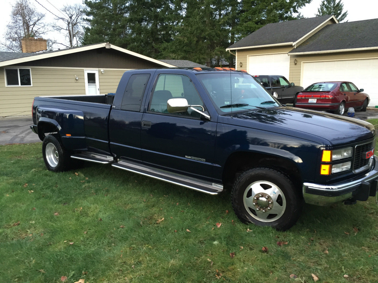 1994 gmc 3500 sle dually big block low miles for sale in kent washington united states. Black Bedroom Furniture Sets. Home Design Ideas