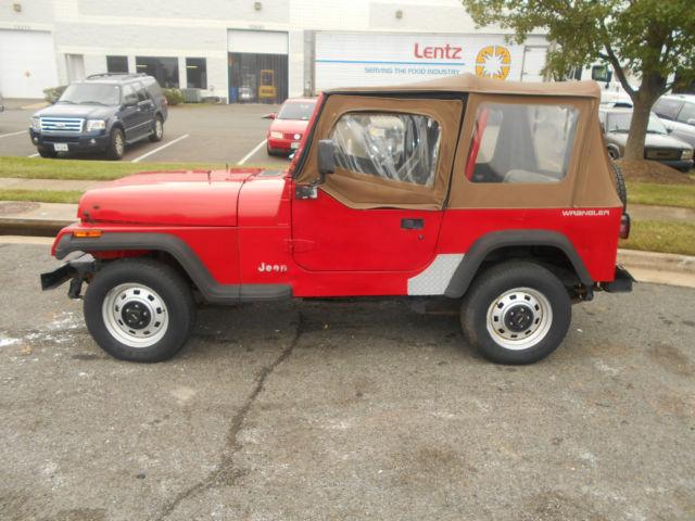 1994 jeep wrangler s sport utility 2 door 2 5l parts only no title for sale in manassas. Black Bedroom Furniture Sets. Home Design Ideas