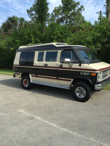 4x4 Chevy conversion van by Pathfinder !!! rare low milage ...