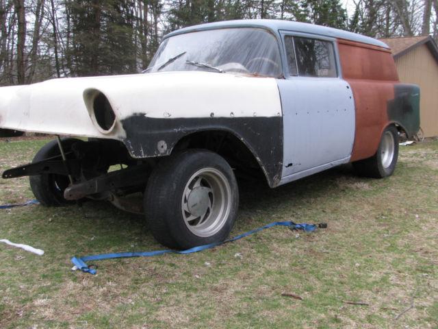 56 Chevy Sedan Delivery Project Gasser Drag Race Rat Rod Nhra