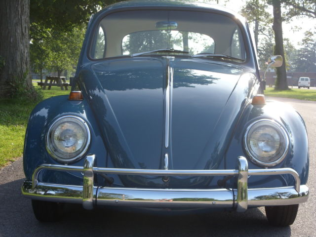 65 SEA BLUE VOLKSWAGEN BUG ON 67 PAN CAL LOOK VW for sale in Muncie, Indiana, United States