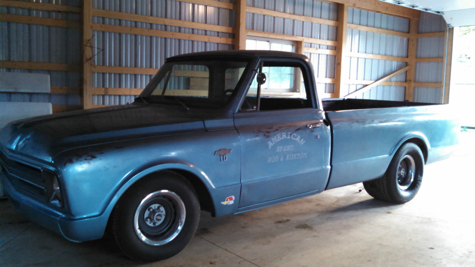67 chevy c10 shop truck patina paint tubbed for sale in Clarksville, Iowa, United States