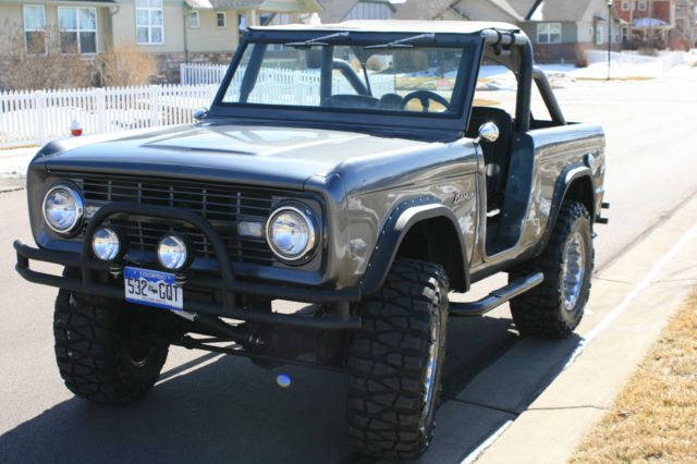 68 Ford Bronco Early Ford Bronco Gray 302 New 35x12