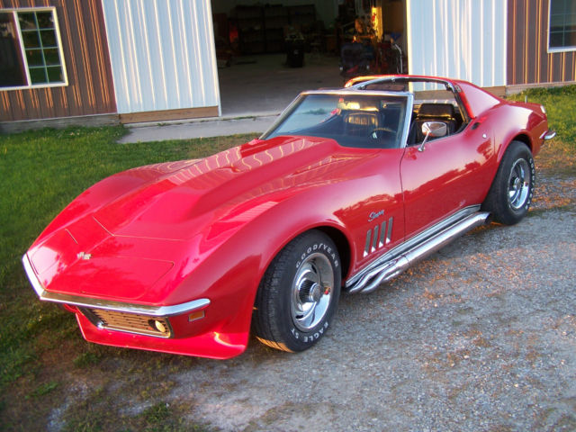 69 chevy corvette stingray w cowl hood side pipes s matching 1969 chevrolet for sale in woden. Black Bedroom Furniture Sets. Home Design Ideas