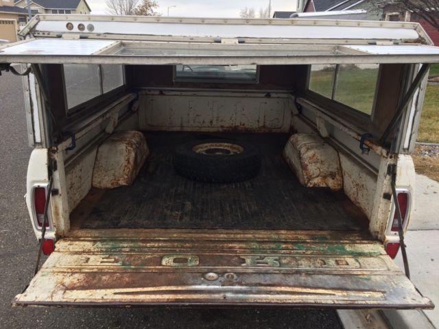 Ford F Lunar Green Cylinder Manual Winebego Canopy Runs Good