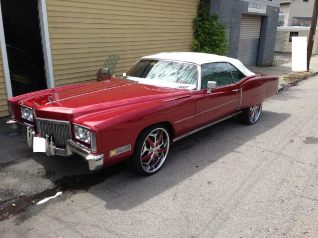 72 red convertible with 22 rims customer interior 4 6x9 spkrs w base tube for sale in for 1972 cadillac eldorado interior