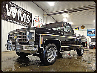77 Chevy Truck >> 77 Black 1 2 Ton C 10 Chevy Pickup Truck Big Block A C 2wd