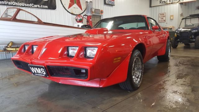 79 Red Trans Am Firebird Small Block V8 Auto Power Chrome
