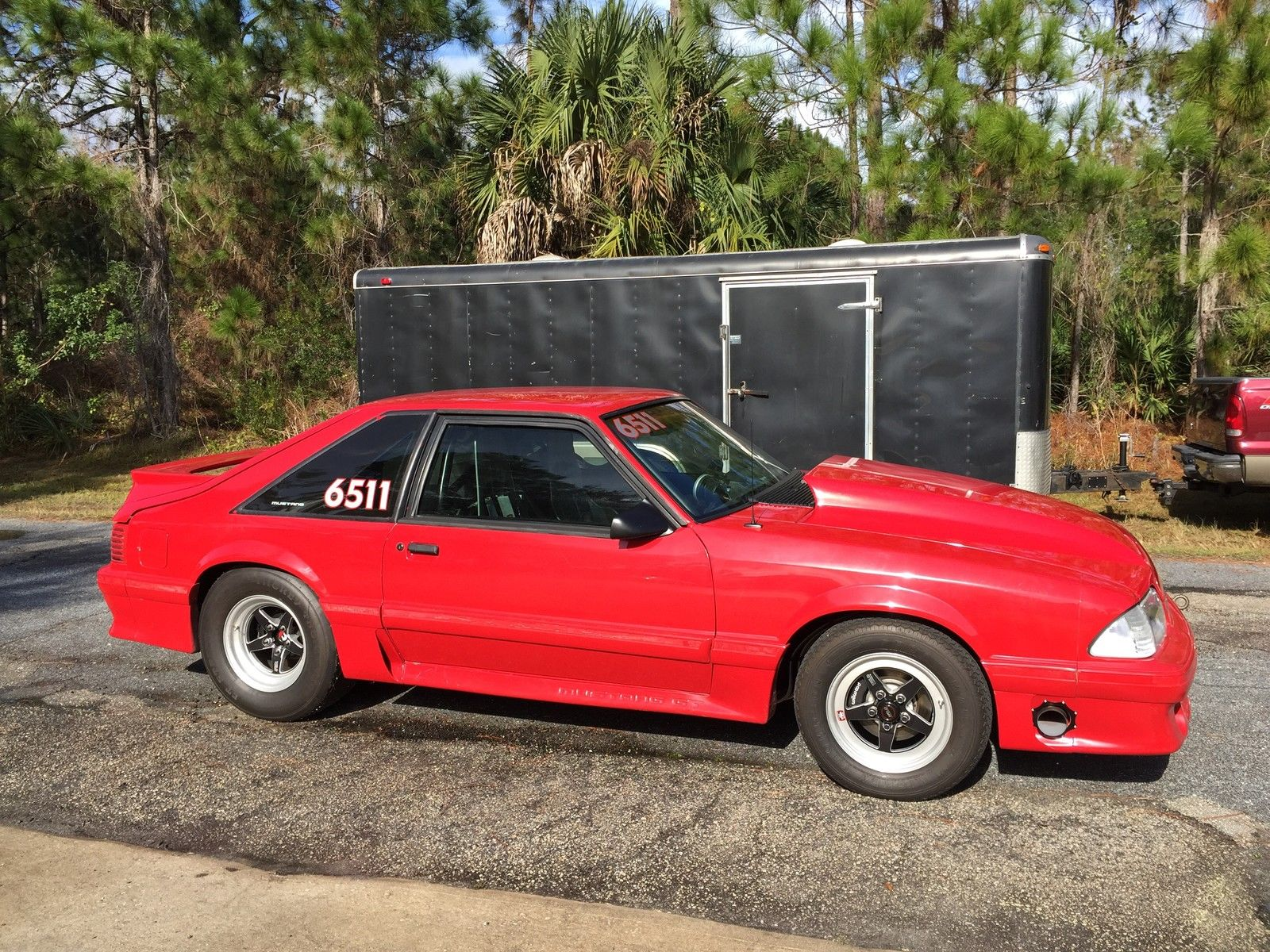 90 ford mustang gt drag race car and trailer combo for sale in palm bay florida united states. Black Bedroom Furniture Sets. Home Design Ideas