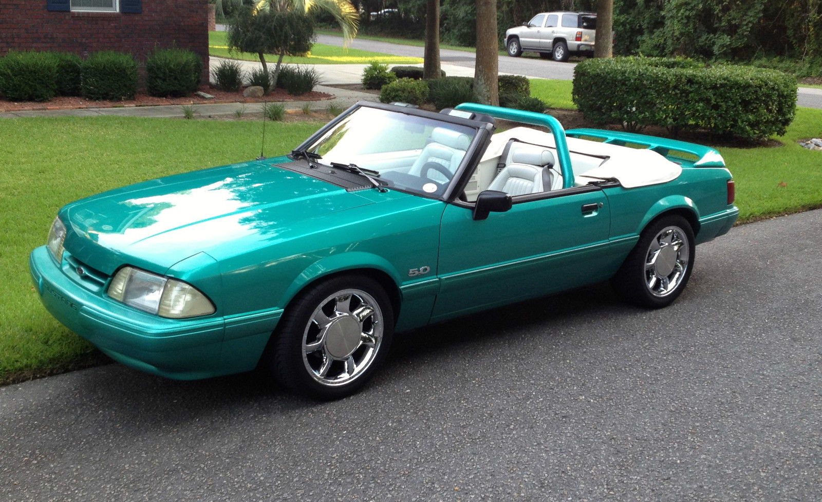Foxbody convertible calypso green mustang for sale in myrtle beach south carolina united states