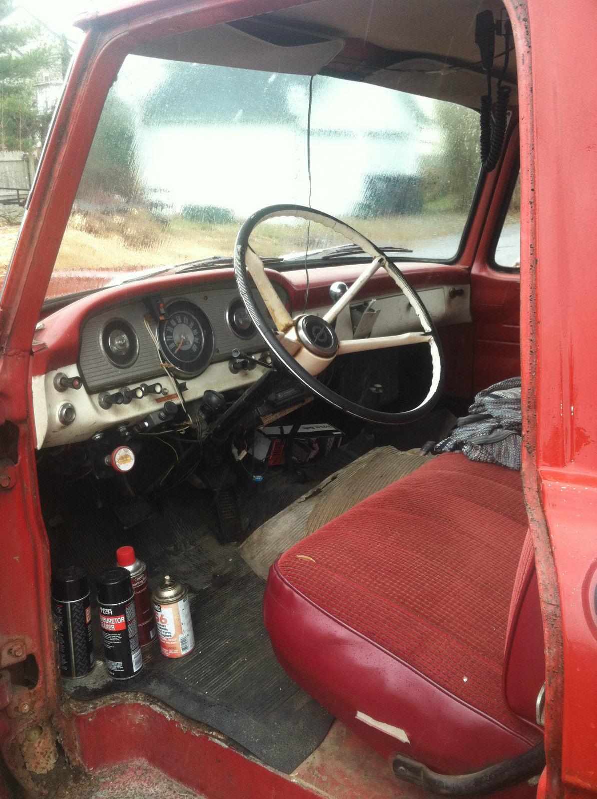 Antique 1964 ford f 350 dump truck vintage retro badass clear title red black