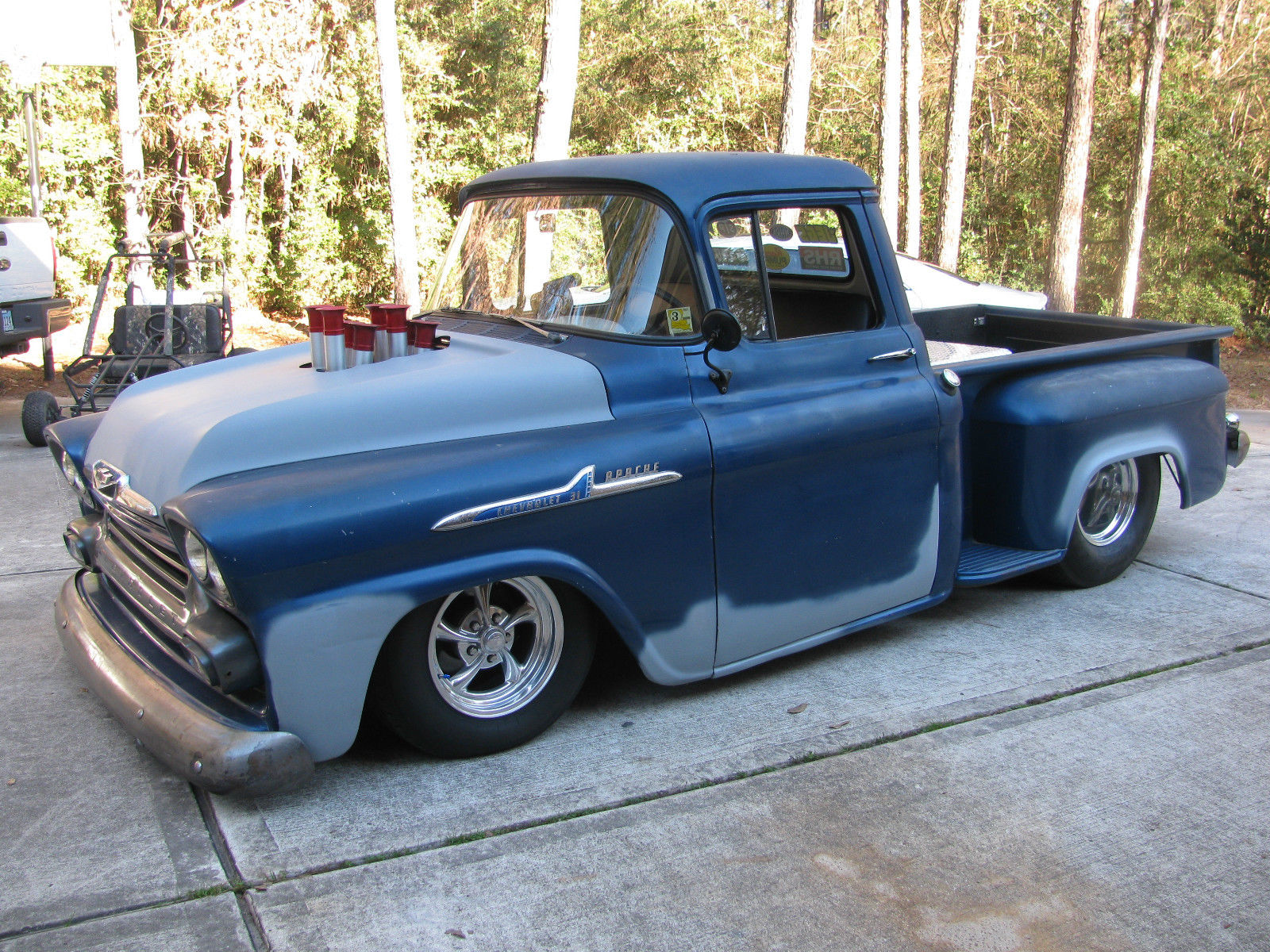Bad ass 1958 apache bagged drag truck tribute 1958 chevrolet other pickups