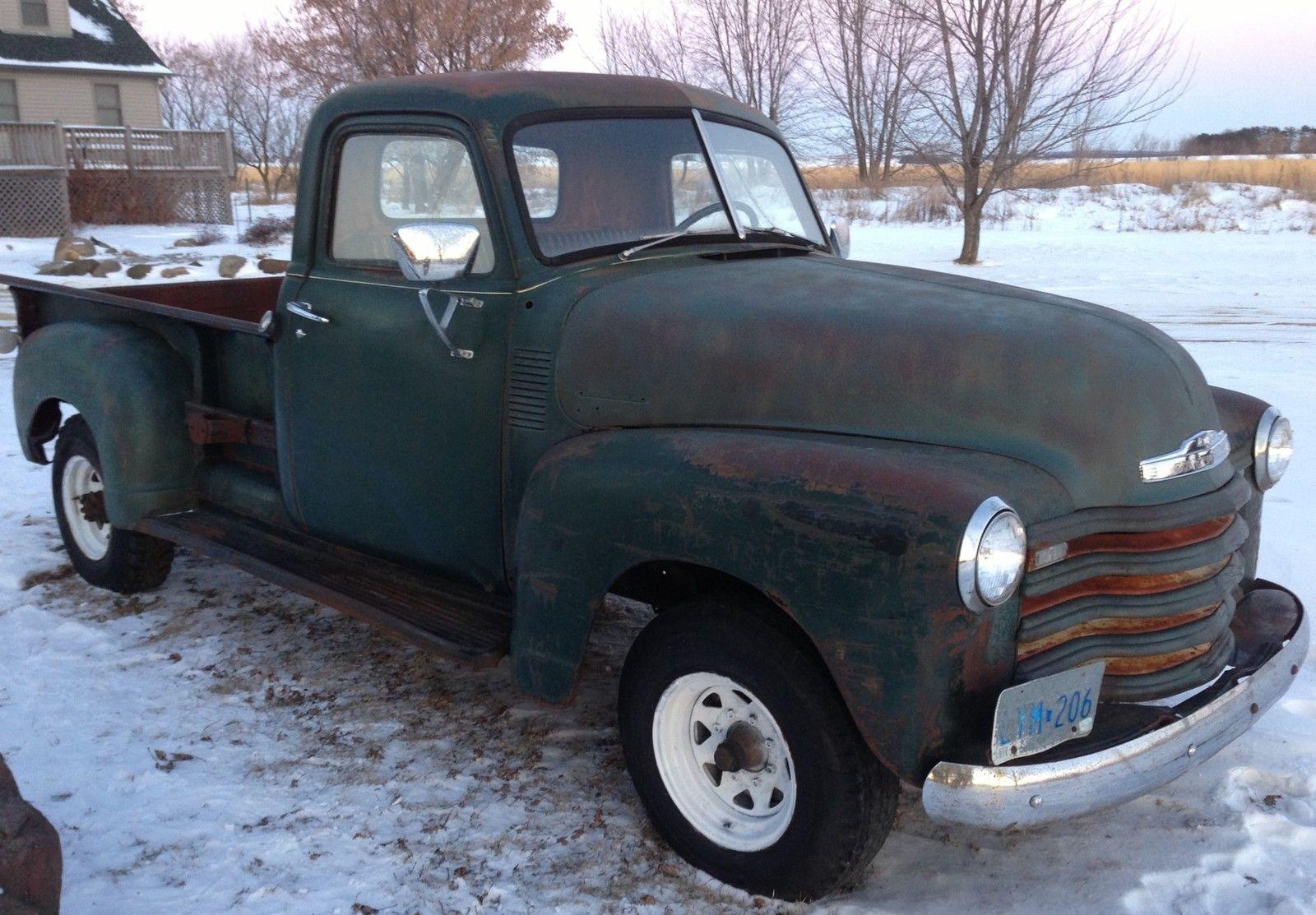 Barn Find 1950 Chevrolet 3600 Pickup Truck Patina Hot Rat