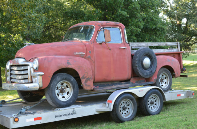Barnfound early 1955 gmc 100 swb 5 window pickup truck project for 1955 chevy 5 window truck