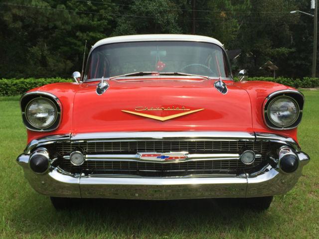 Beautiful Restored 1957 Chevrolet Chevy Bel Air 4 Door Sedan 1955