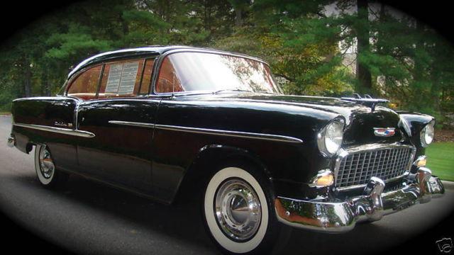 Black 1955 chevrolet bel air 2 door hardtop sport coupe for sale in longview washington united - 1955 chevrolet belair sport coupe ...