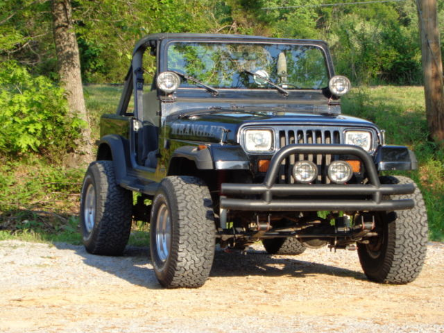 Black Jeep Yj Wrangler Ford Mustang Speed Hot Rod Off Road