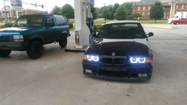 Bmw 325i With E36 M3 Upgrades Black On Black Sedan Suspension Wheels Exhaust For Sale In