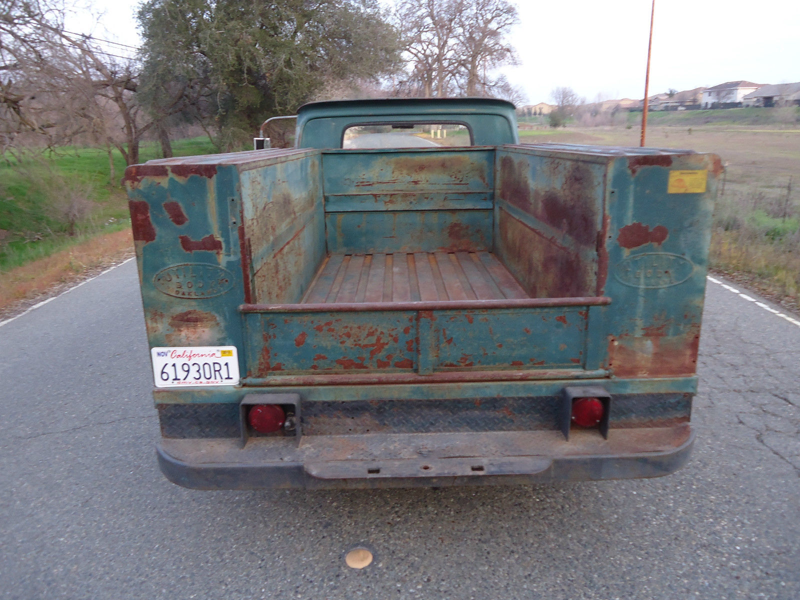 California Native 1961 Chevy Utility Bed Truck With Natural Patina C10 Chevrolet C K Pickup 2500 Cheyenne