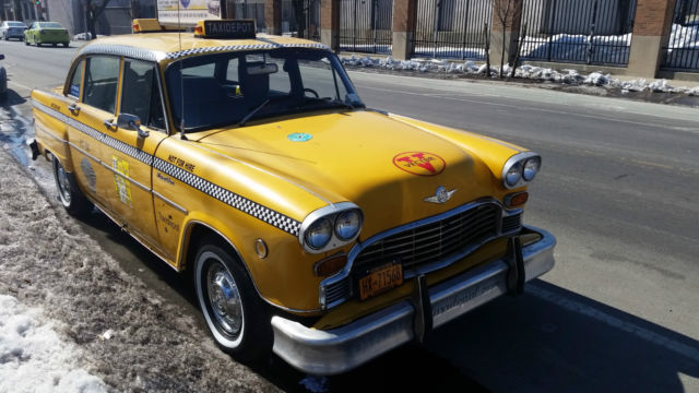 checker 1975 marathon new york city taxi outfitted for sale in long island city new york. Black Bedroom Furniture Sets. Home Design Ideas
