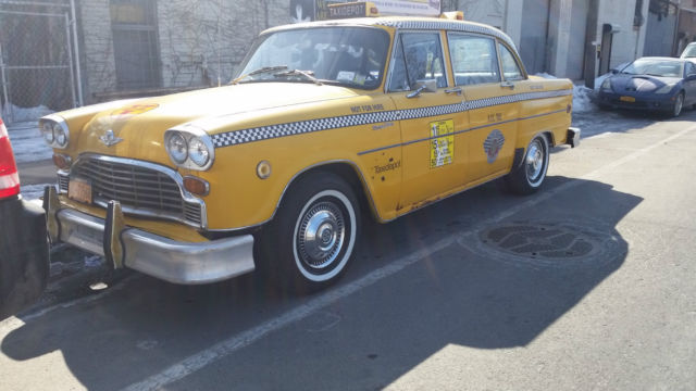 checker 1975 marathon new york city taxi outfitted for. Black Bedroom Furniture Sets. Home Design Ideas