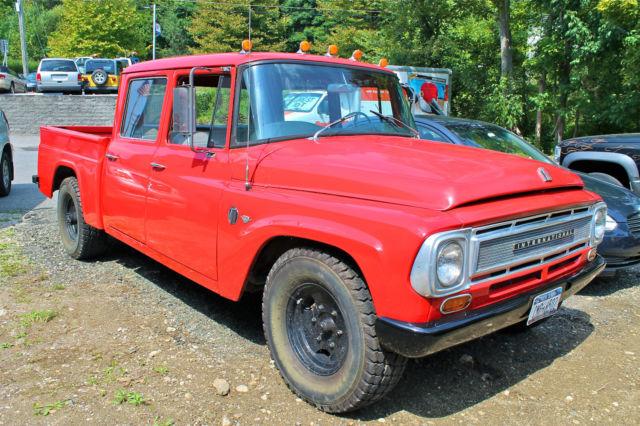 cherry red 1967 ih international harvester travelette 1100 series 4 door truck for sale in. Black Bedroom Furniture Sets. Home Design Ideas