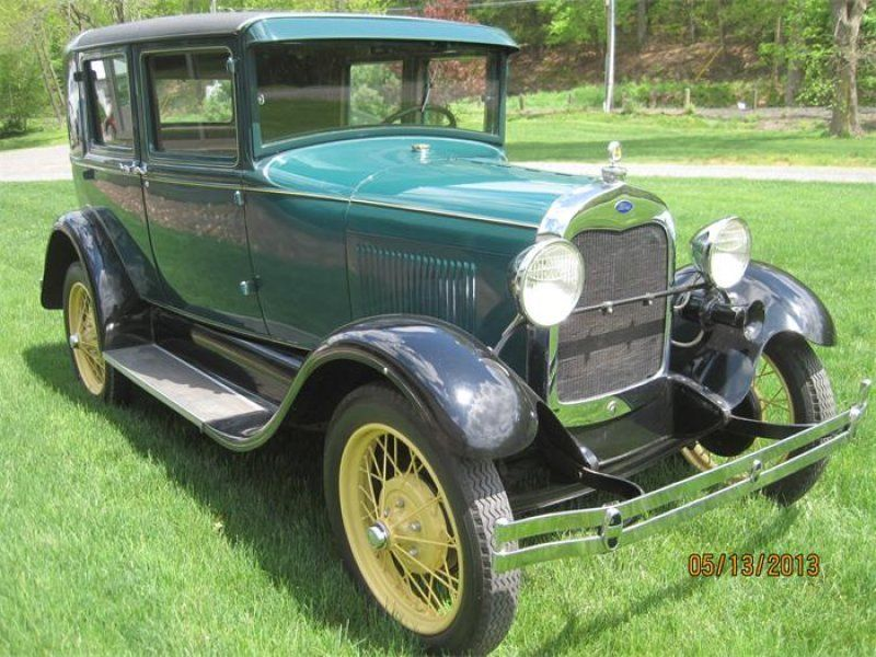 Classic 1929 ford 4 dr model a 4 door steel back briggs for Classic motor cars of ellington