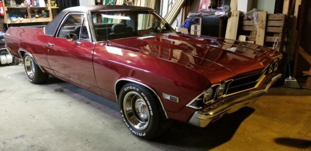 Clean 1968 El Camino Custom Interior Ghost Flames And
