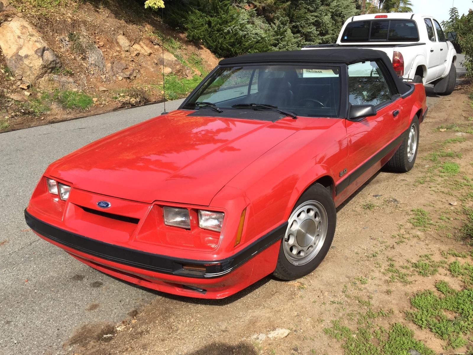 clean 1986 mustang convertible 94k miles red with black interior top san diego for sale in san. Black Bedroom Furniture Sets. Home Design Ideas