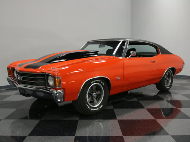 CORRECT CODE 65 FLAME ORANGE, 454CI BIG BLOCK, COWL HOOD, BUCKETS W