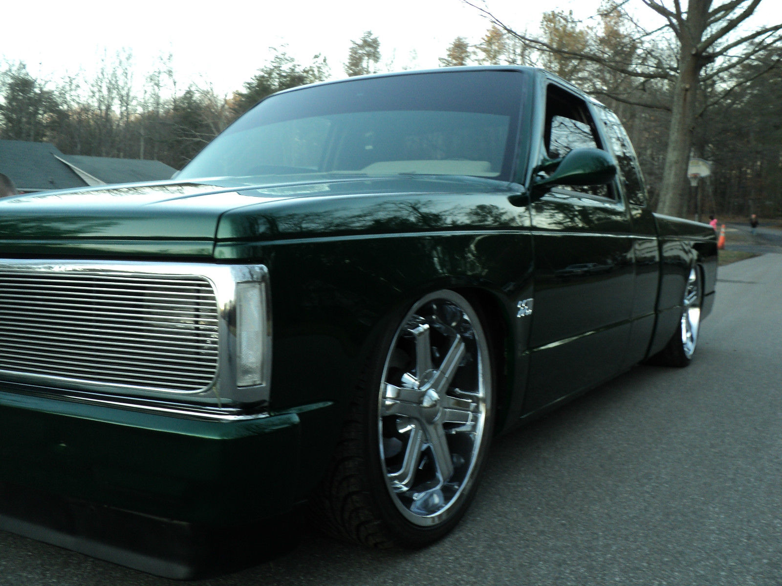custom 91 chevy s10 organic kandy green airride for sale. Black Bedroom Furniture Sets. Home Design Ideas