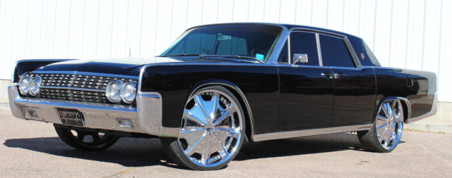 customized black 1964 lincoln continental presidential edition 24 chrome rims for sale in. Black Bedroom Furniture Sets. Home Design Ideas