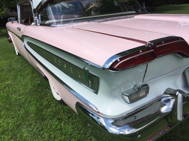 Edsel 1958 Citation Pink White 2 Door Htp Engine V8 475