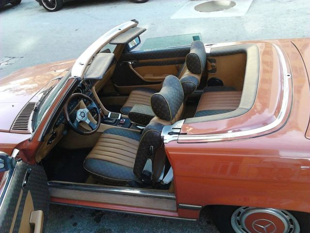 english red 1977 mercedes benz 450 sl convertible w custom louis vuitton int. Black Bedroom Furniture Sets. Home Design Ideas