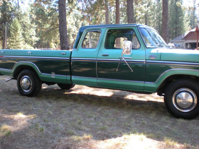 Ford 1977 F250 Ranger Xlt Super Cab Camper Special For