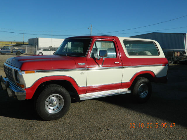 Ford Bronco 1979 Original Miles Paint And Interior For