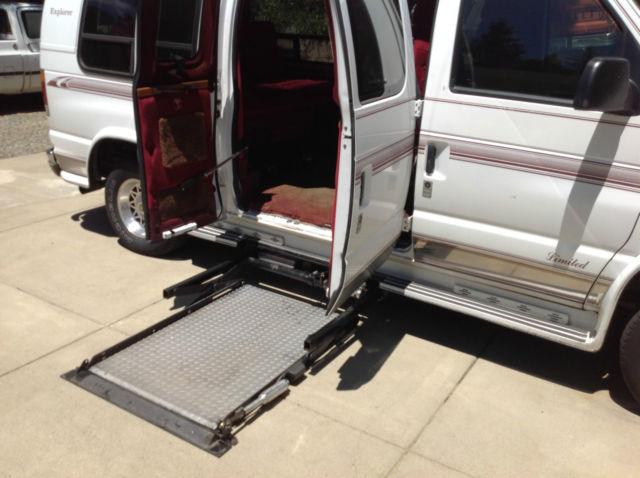 Full Size Wheelchair Van Under Vehicle Lift Raised Roof