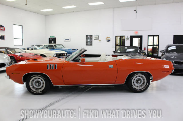 hemi orange 1971 plymouth cuda383 magnum727 auto for sale. Black Bedroom Furniture Sets. Home Design Ideas