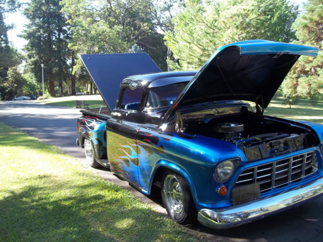 hot rod 1955 custom chop top big window right hand drive chevrolet pickup for sale in. Black Bedroom Furniture Sets. Home Design Ideas